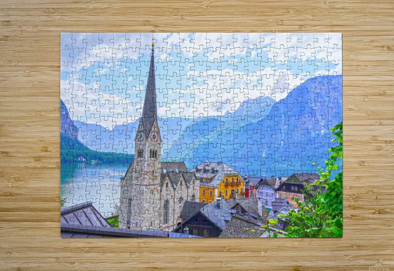 One Fine Day in Hallstatt Austria  HD Metal print with Floating Frame on Back