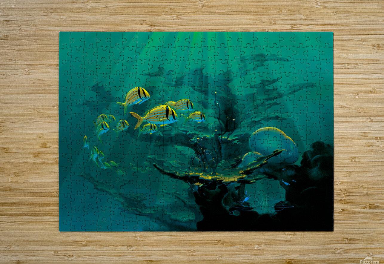 Atlantic Reef  HD Metal print with Floating Frame on Back