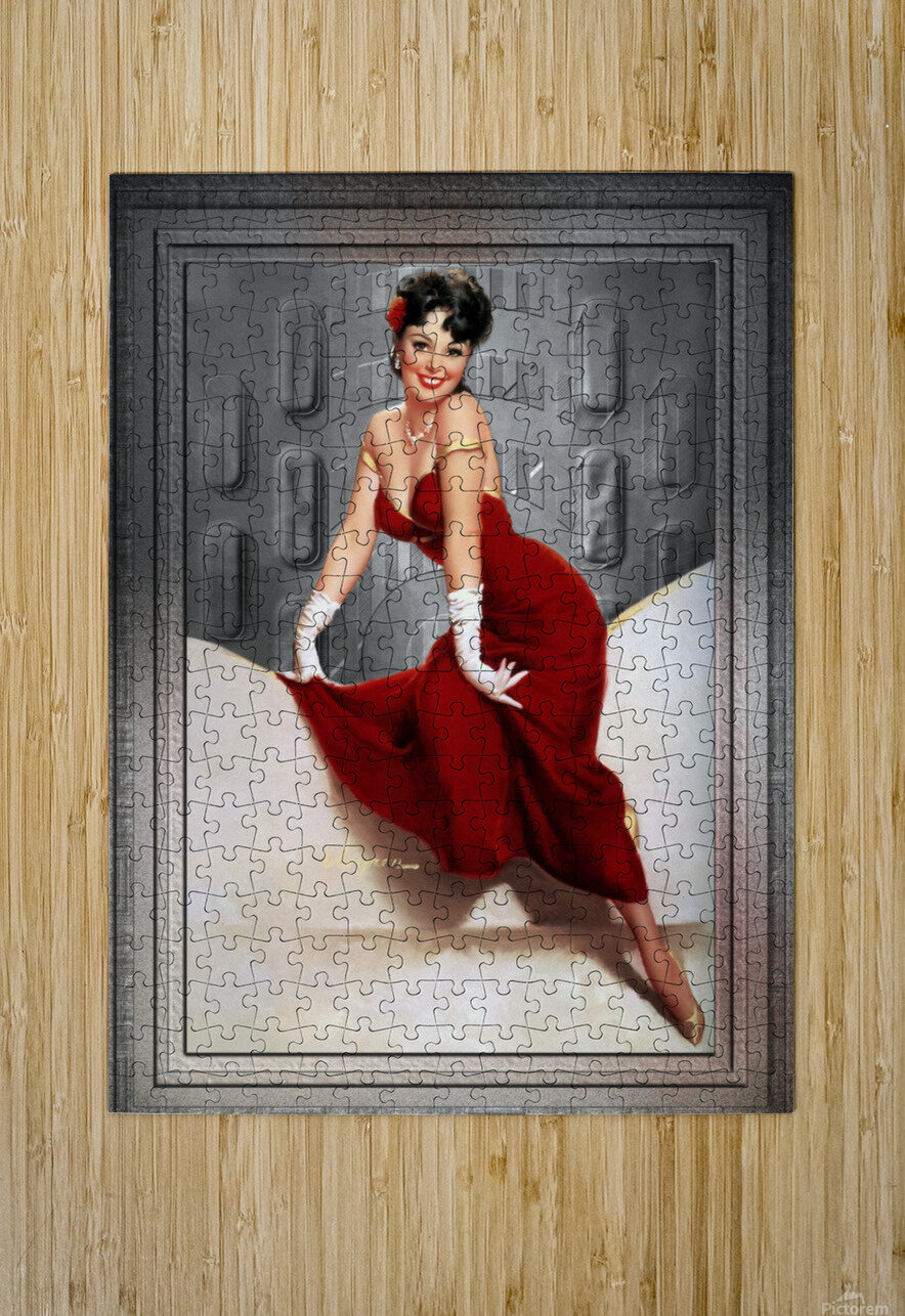Picture Pretty by Gil Elvgren Classic Xzendor7 Old Masters Reproductions  HD Metal print with Floating Frame on Back