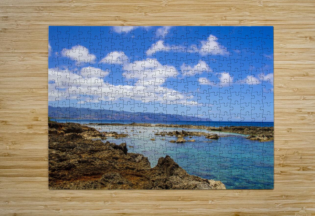 Brilliant Blue Skies Over Hanauma Bay Hawaii  HD Metal print with Floating Frame on Back