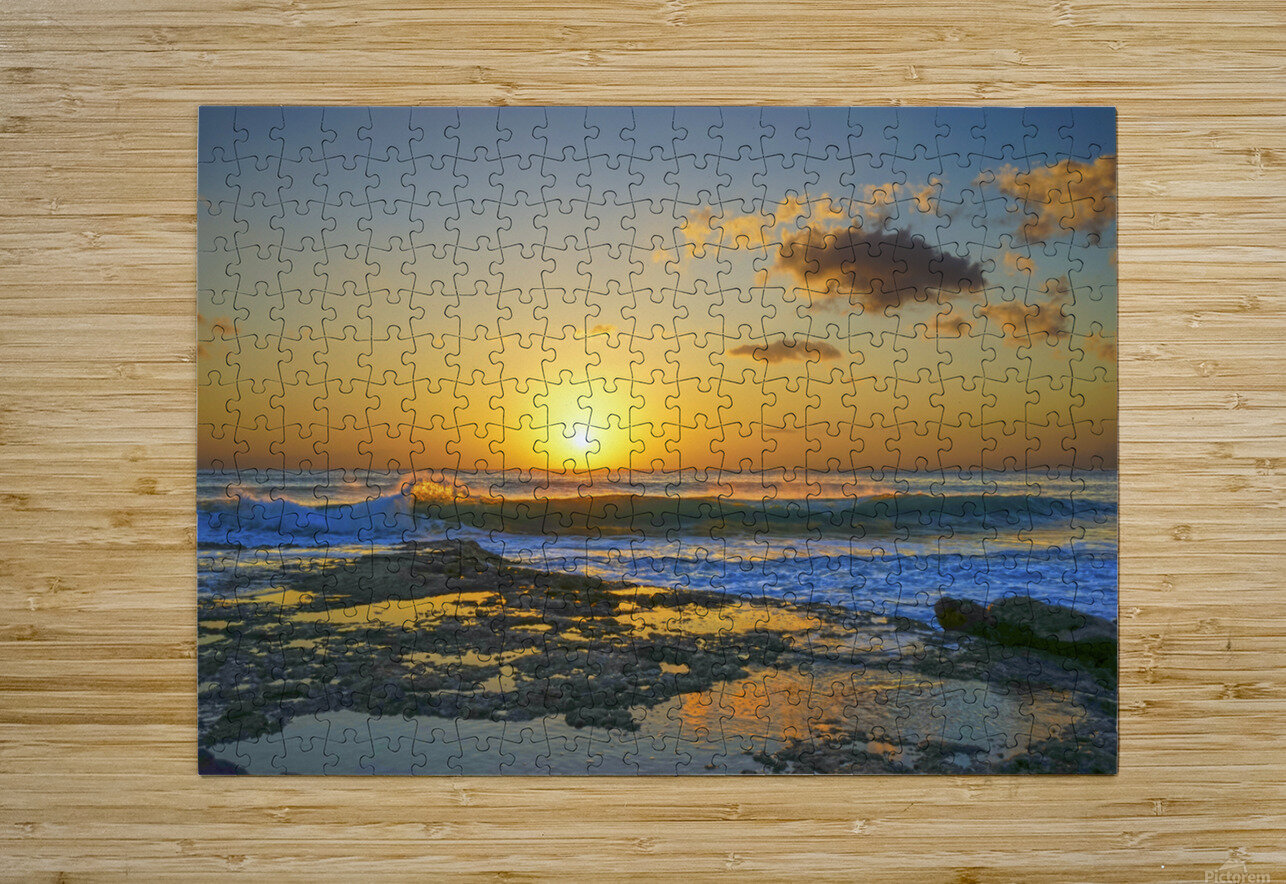 Brilliant Sunset at the Bay Hawaii  HD Metal print with Floating Frame on Back