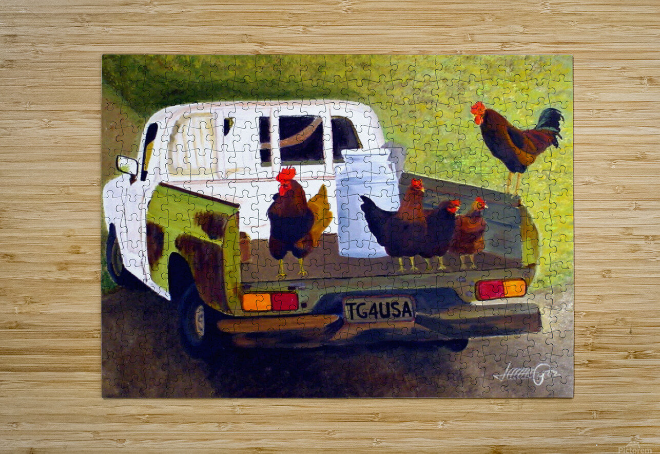 Hitching a Ride to Town  HD Metal print with Floating Frame on Back