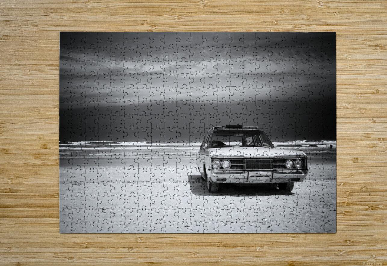 Daytona Beach 2  Impression métal HD avec cadre flottant sur le dos