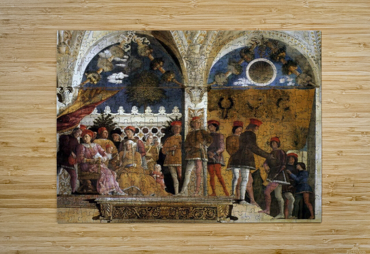 The Court of Mantua  HD Metal print with Floating Frame on Back