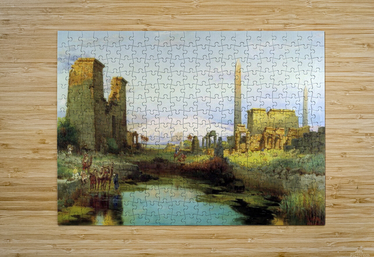 The Temple of Karnak 1911  HD Metal print with Floating Frame on Back