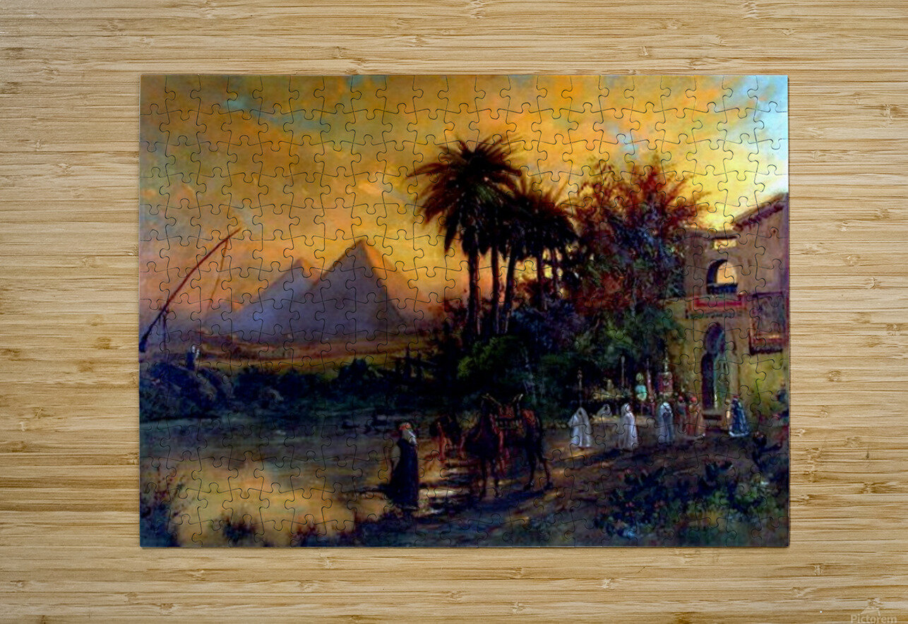 Pyramid scene  HD Metal print with Floating Frame on Back