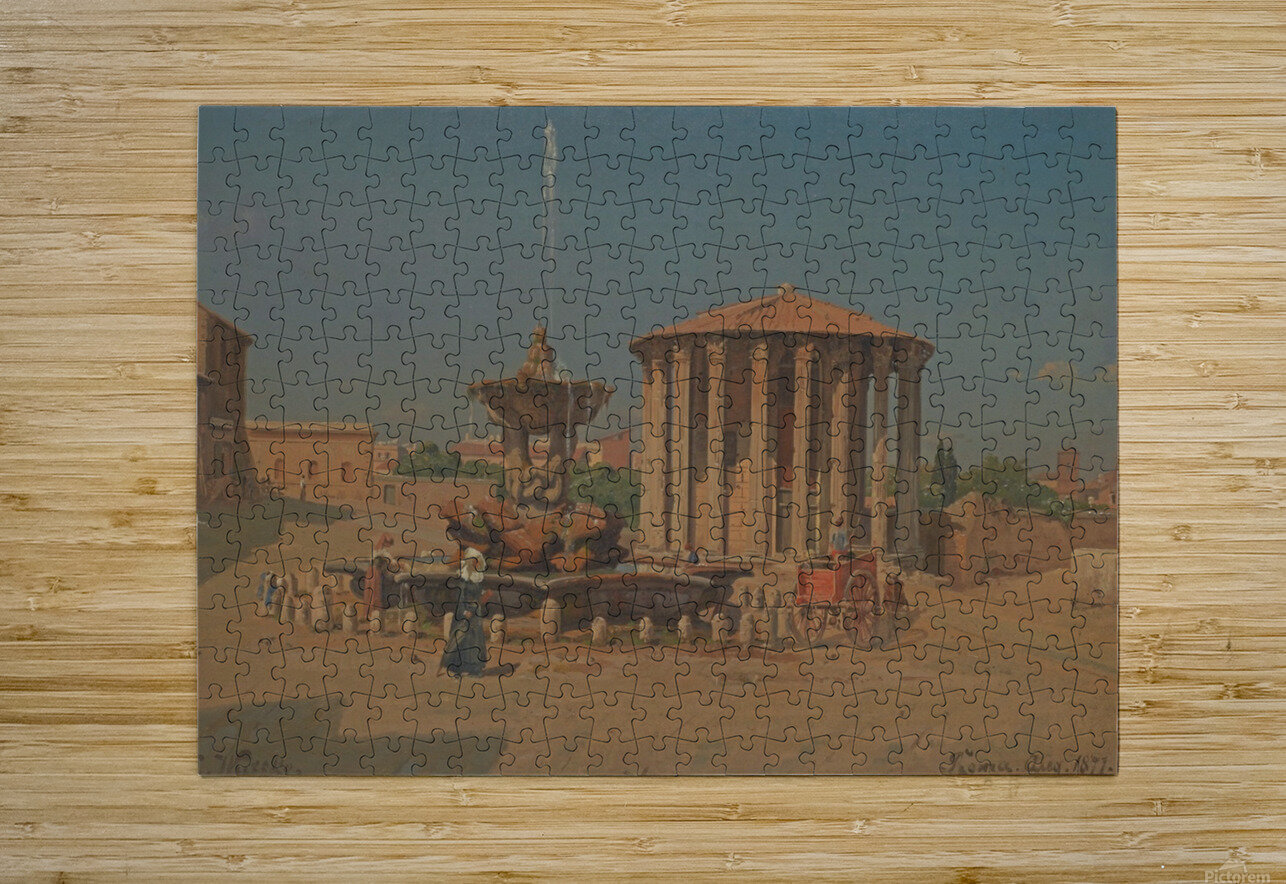 Roma, August 1877  HD Metal print with Floating Frame on Back
