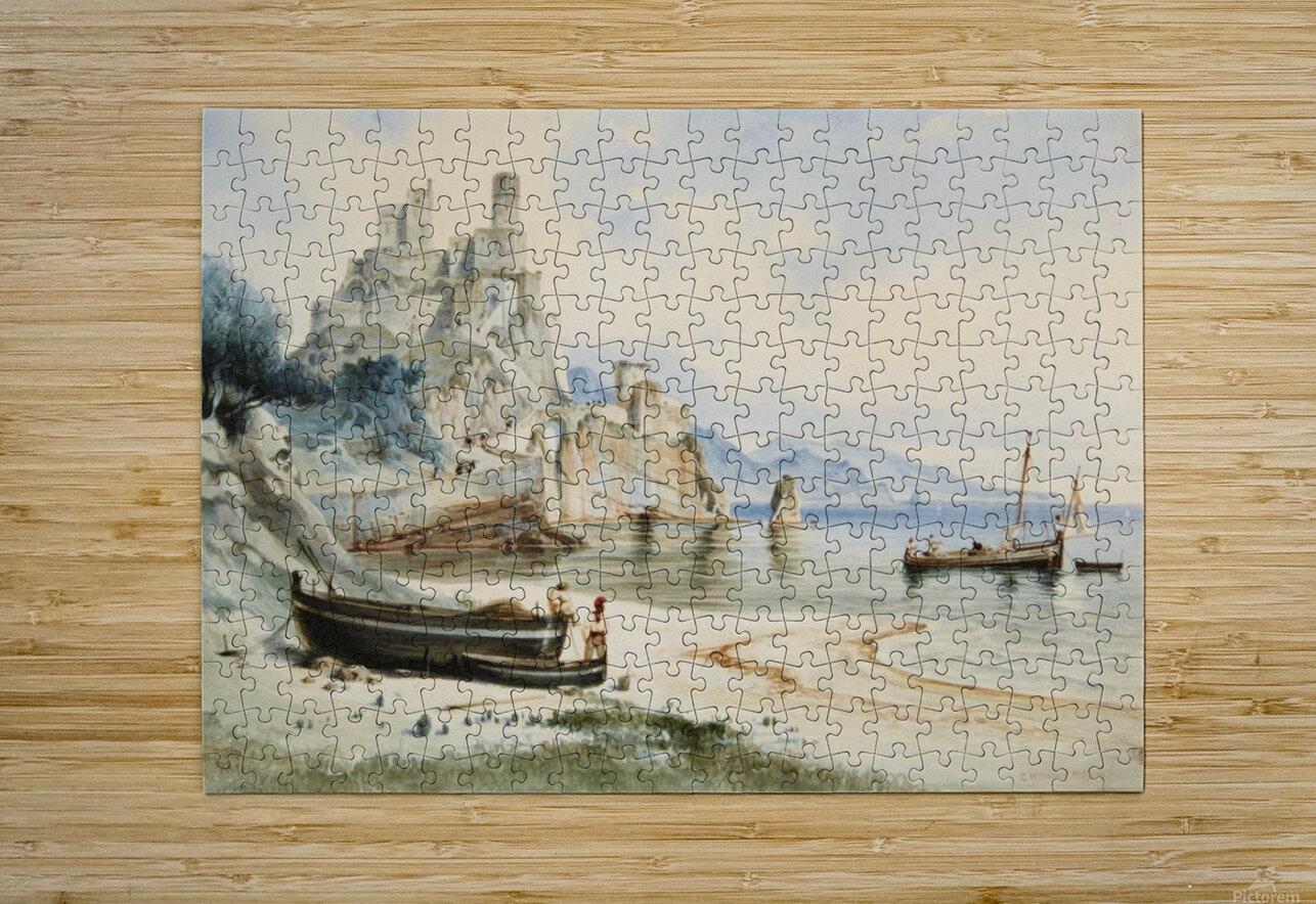 Sicilian Coastal Landscape  HD Metal print with Floating Frame on Back