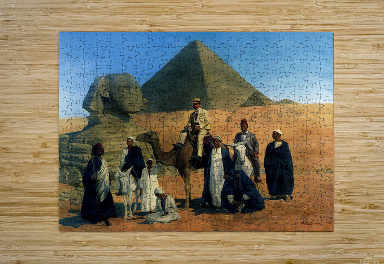 In search of the Pharaohs  HD Metal print with Floating Frame on Back
