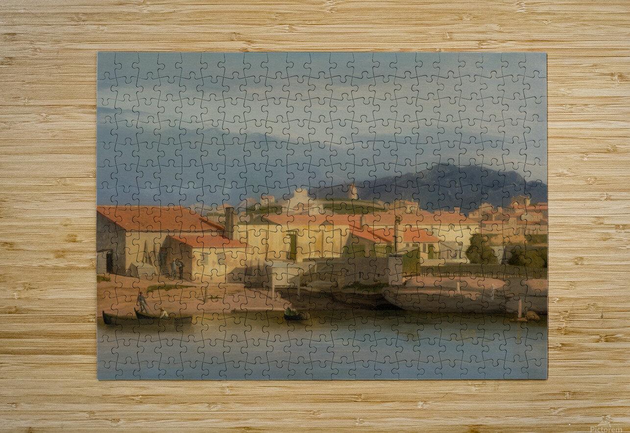 Vue des environs de Marseille  HD Metal print with Floating Frame on Back