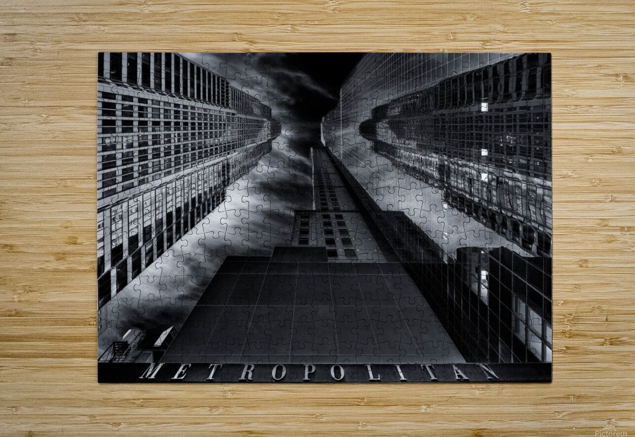 M E T R O P O L I T A N  HD Metal print with Floating Frame on Back