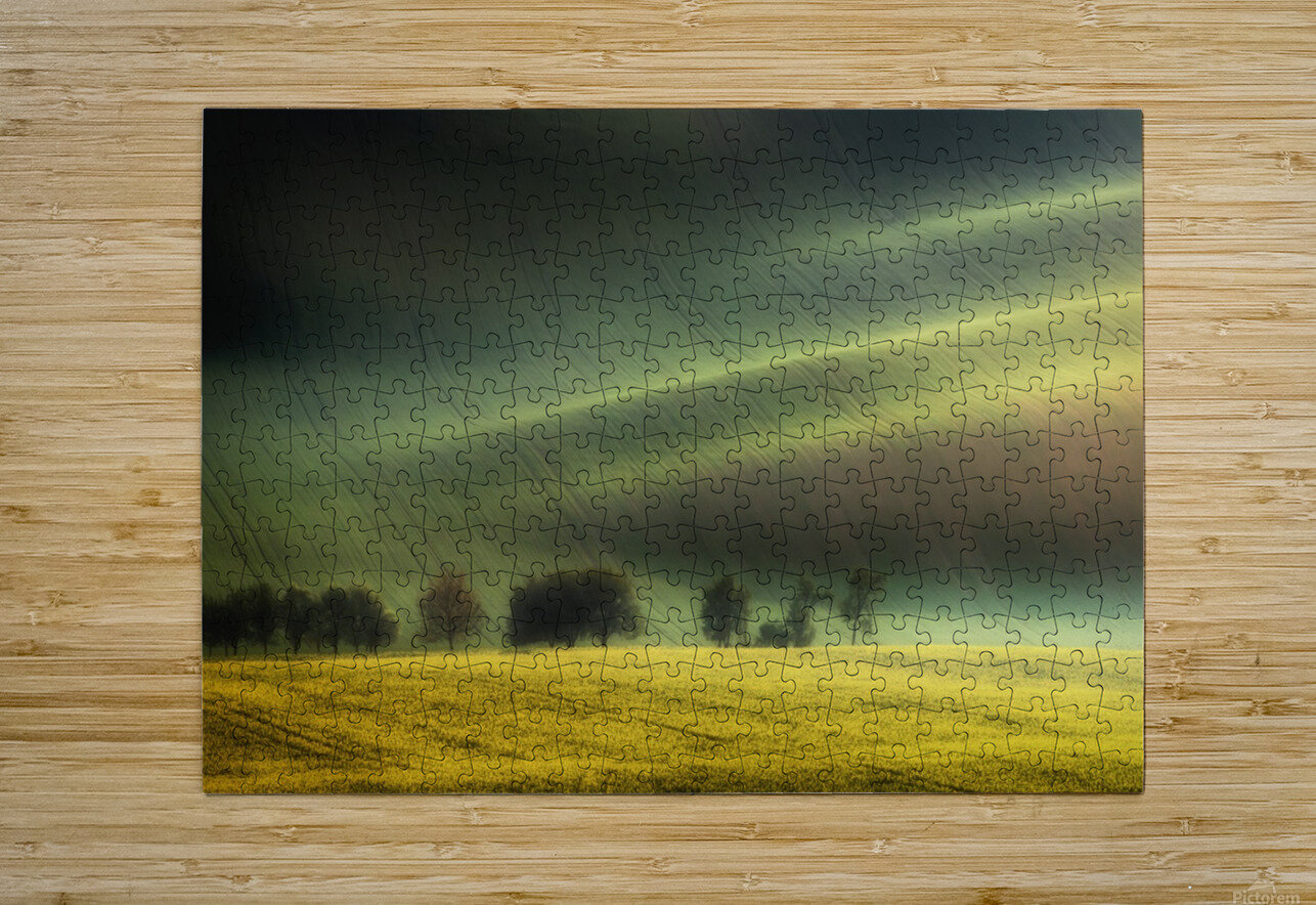 spring fields  HD Metal print with Floating Frame on Back