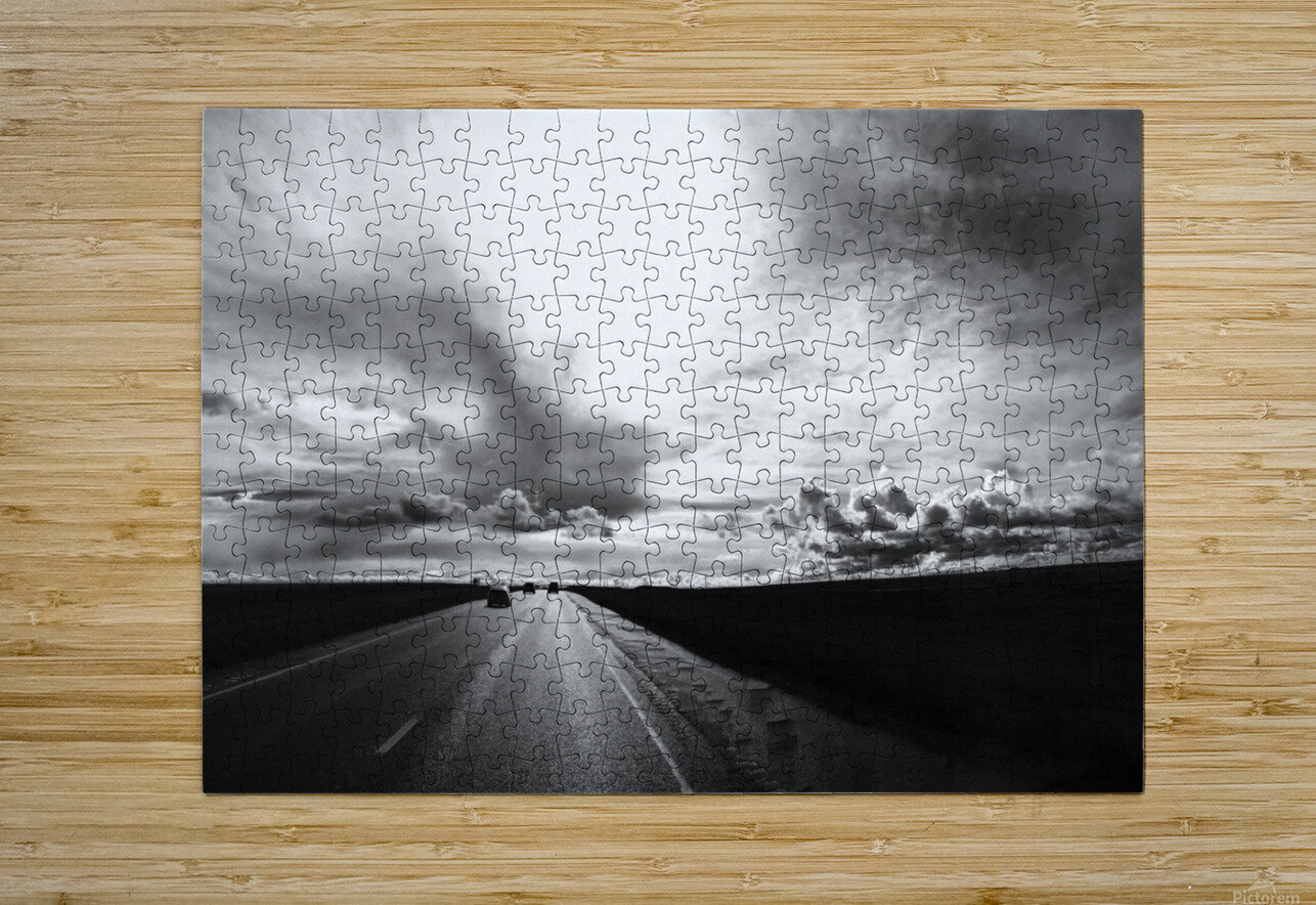 Open Road  HD Metal print with Floating Frame on Back