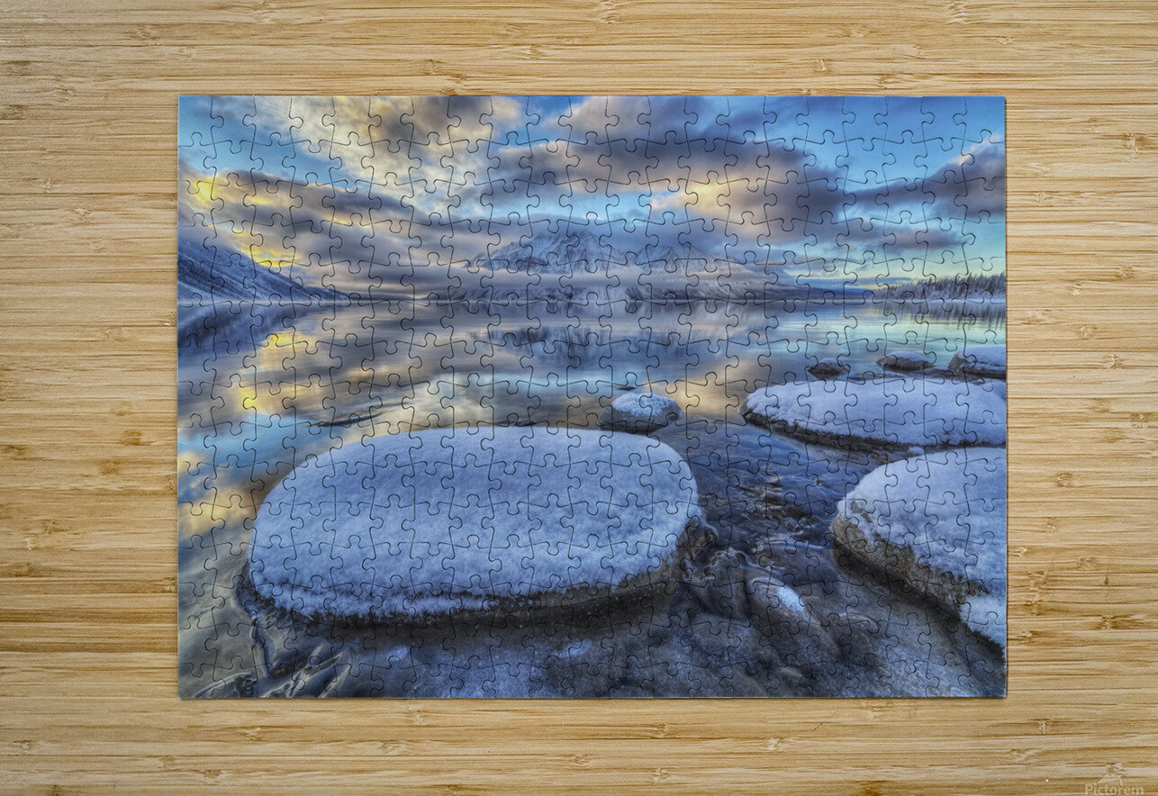 Kathleen Lake and Mount Worthington in Kluane National Park; Yukon, Canada  HD Metal print with Floating Frame on Back