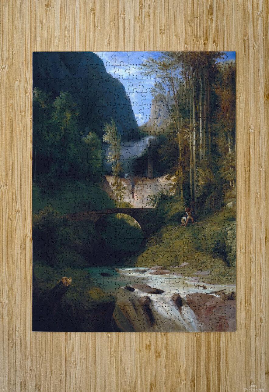 Schlucht bei Amalfi, 1831  Impression métal HD avec cadre flottant sur le dos