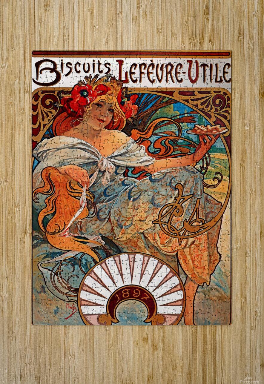 Biscuits Lefevre Utile, 1896  HD Metal print with Floating Frame on Back