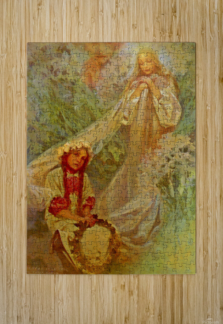 Madonna of the Lilies  HD Metal print with Floating Frame on Back