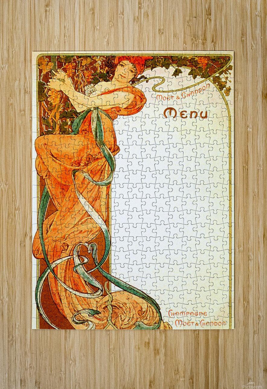 1899 Moet & Chandon menu  HD Metal print with Floating Frame on Back