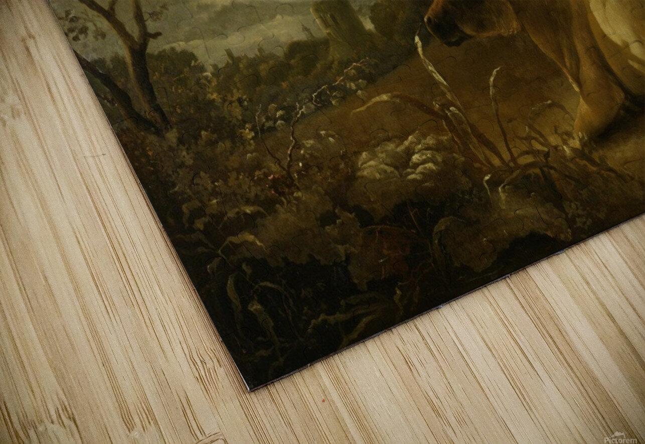 Landschap met koeien en herdersjongen HD Sublimation Metal print