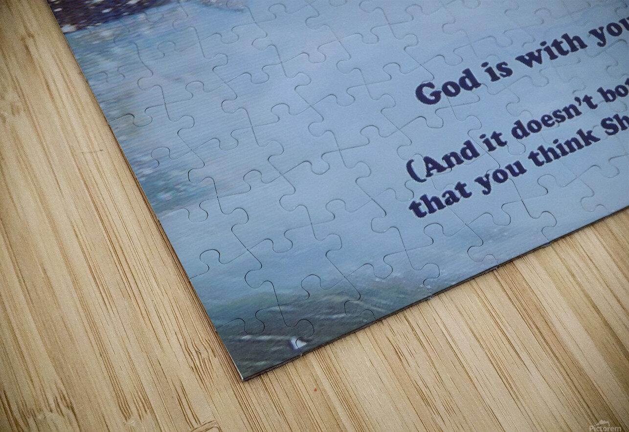 God Is With You1 Impression de sublimation métal HD