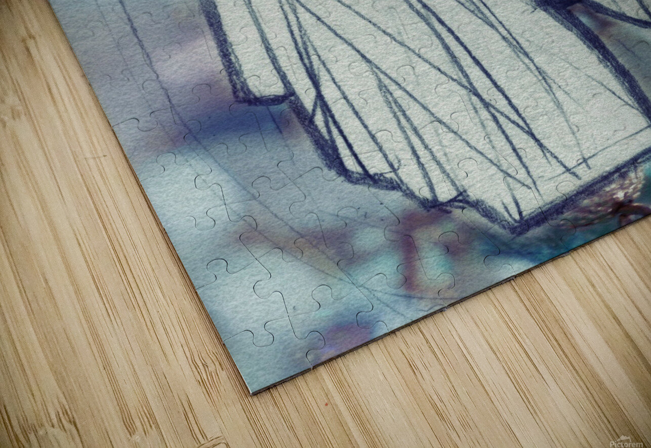Chevelure 2 HD Sublimation Metal print