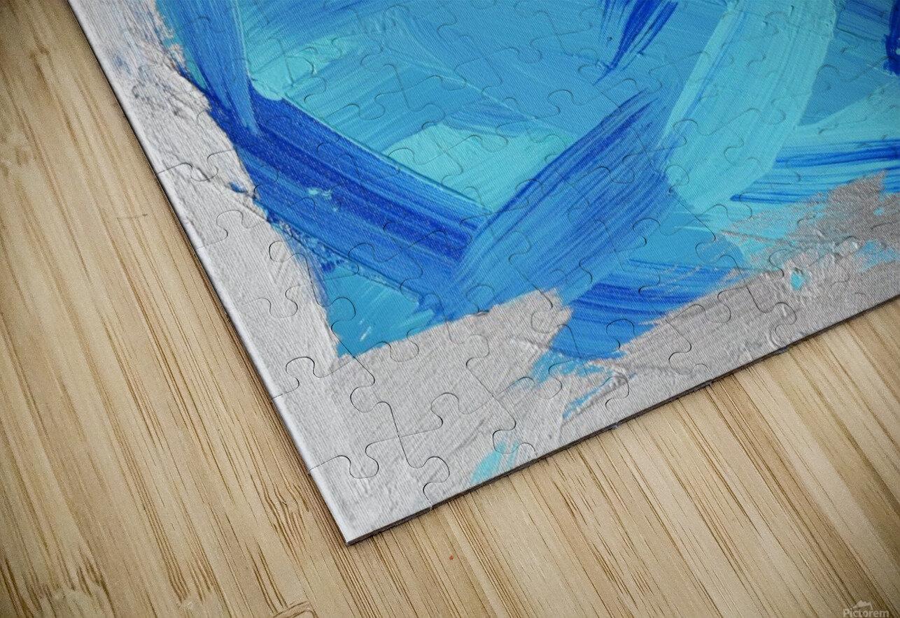 Blue. Walker W. HD Sublimation Metal print
