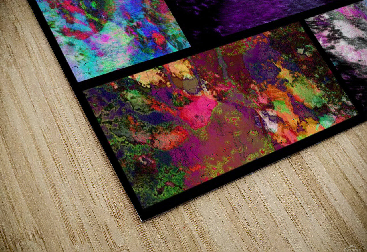 Crazy Paw Print Collage HD Sublimation Metal print
