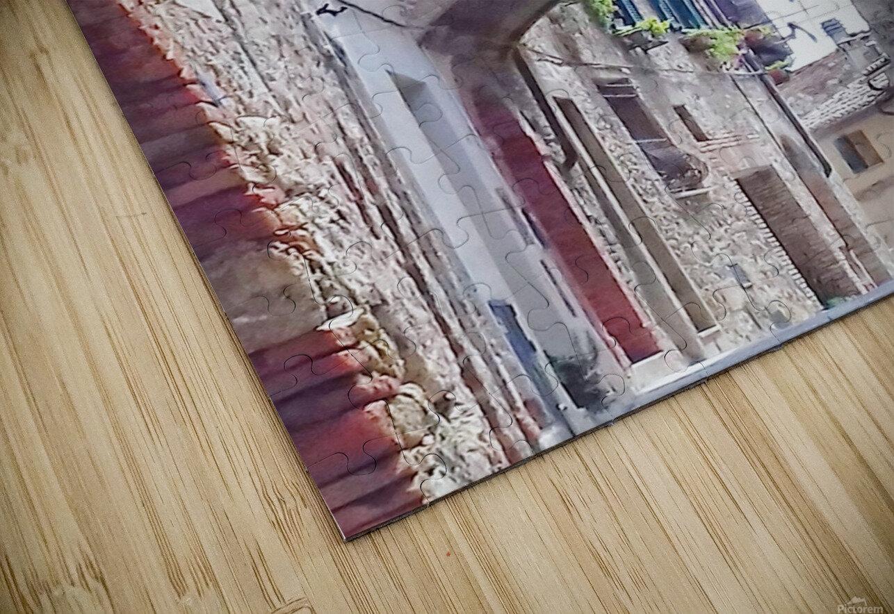Alleyway Cetona Tuscany HD Sublimation Metal print