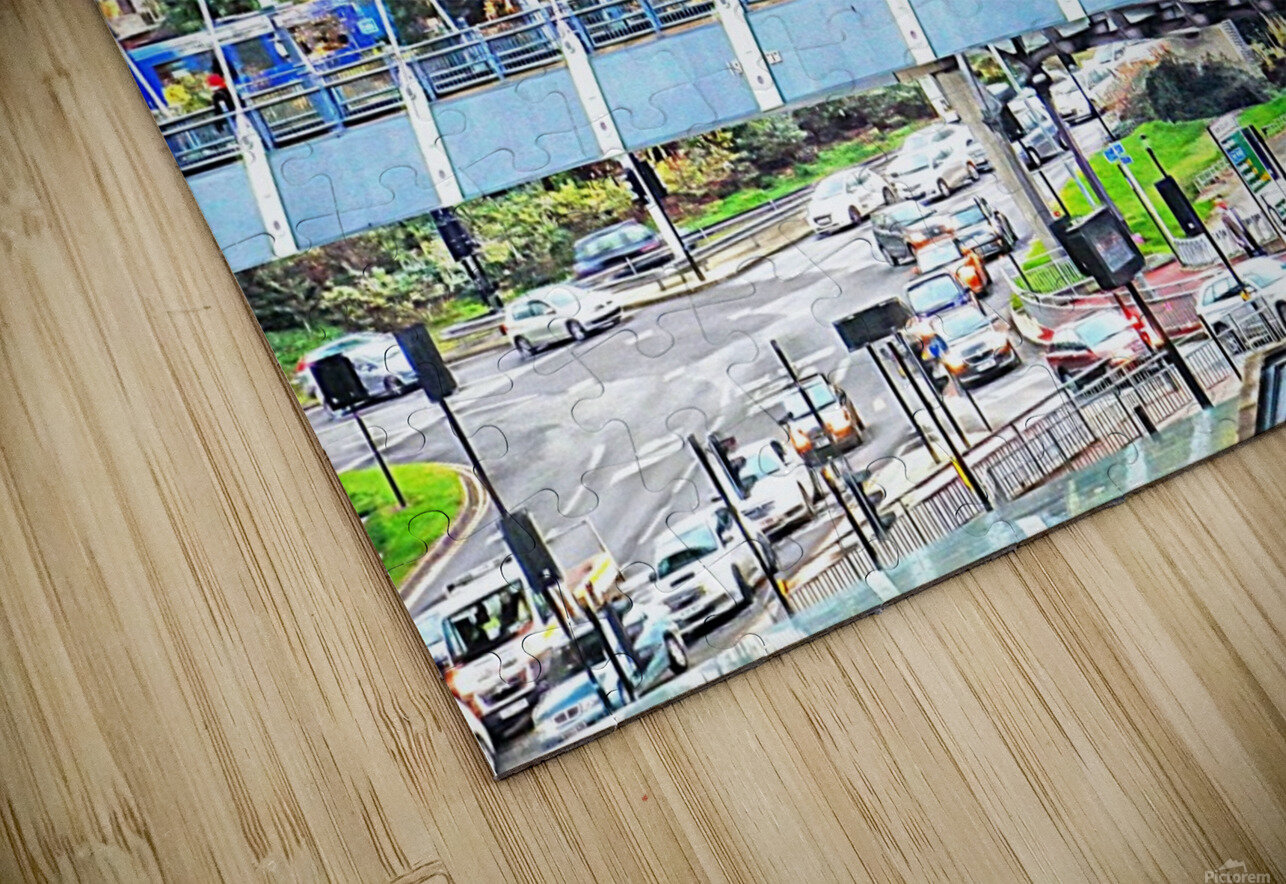 Park Square Bridge Sheffield HD Sublimation Metal print