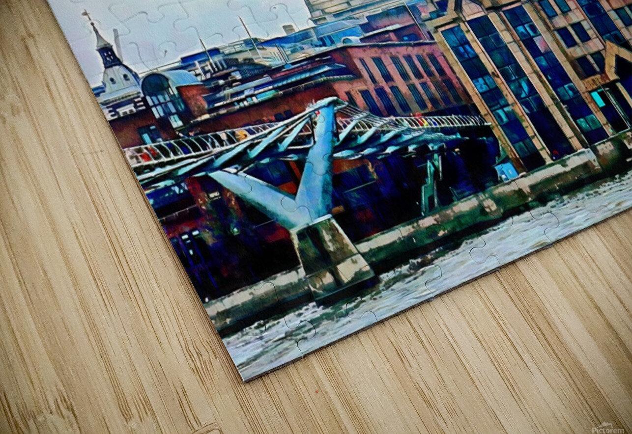 Millennium Bridge to St Pauls Cathedral London HD Sublimation Metal print