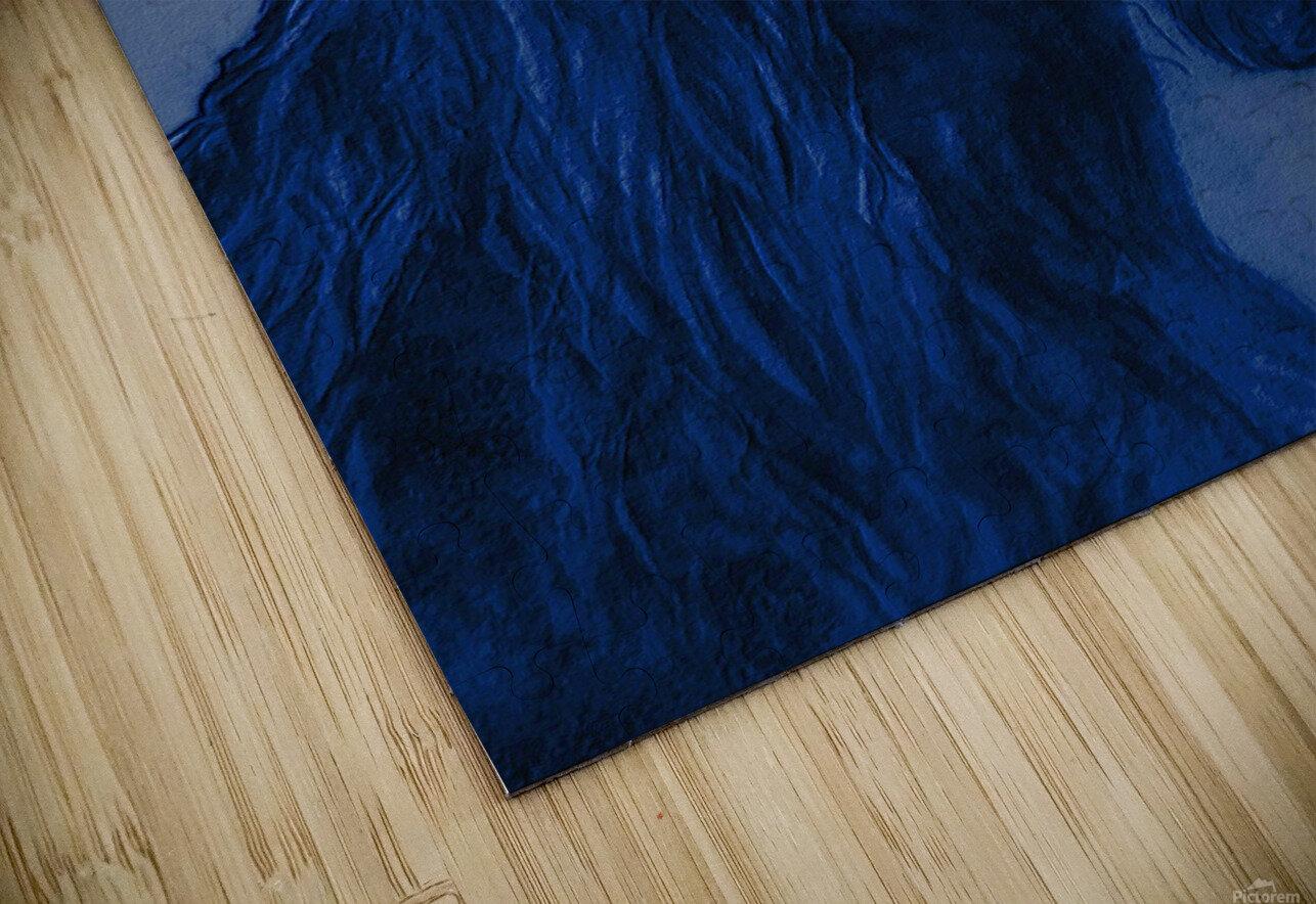Blue Heart HD Sublimation Metal print