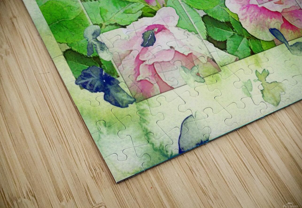 Soft Rose Fragments HD Sublimation Metal print