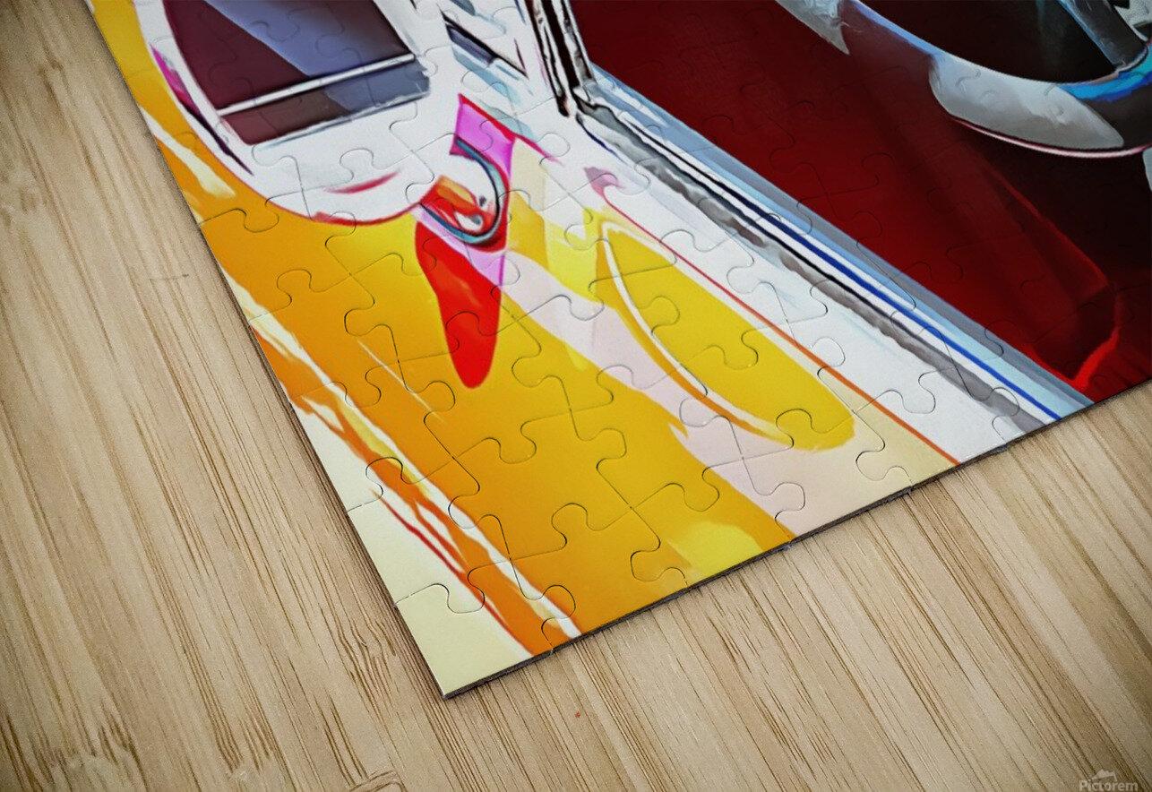 Lancia Fulvia Through The Window HD Sublimation Metal print