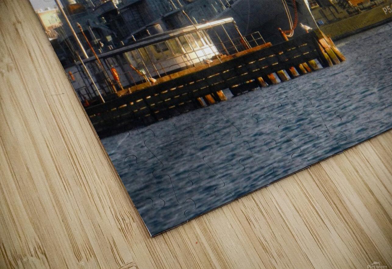 Ships at Holmen HD Sublimation Metal print