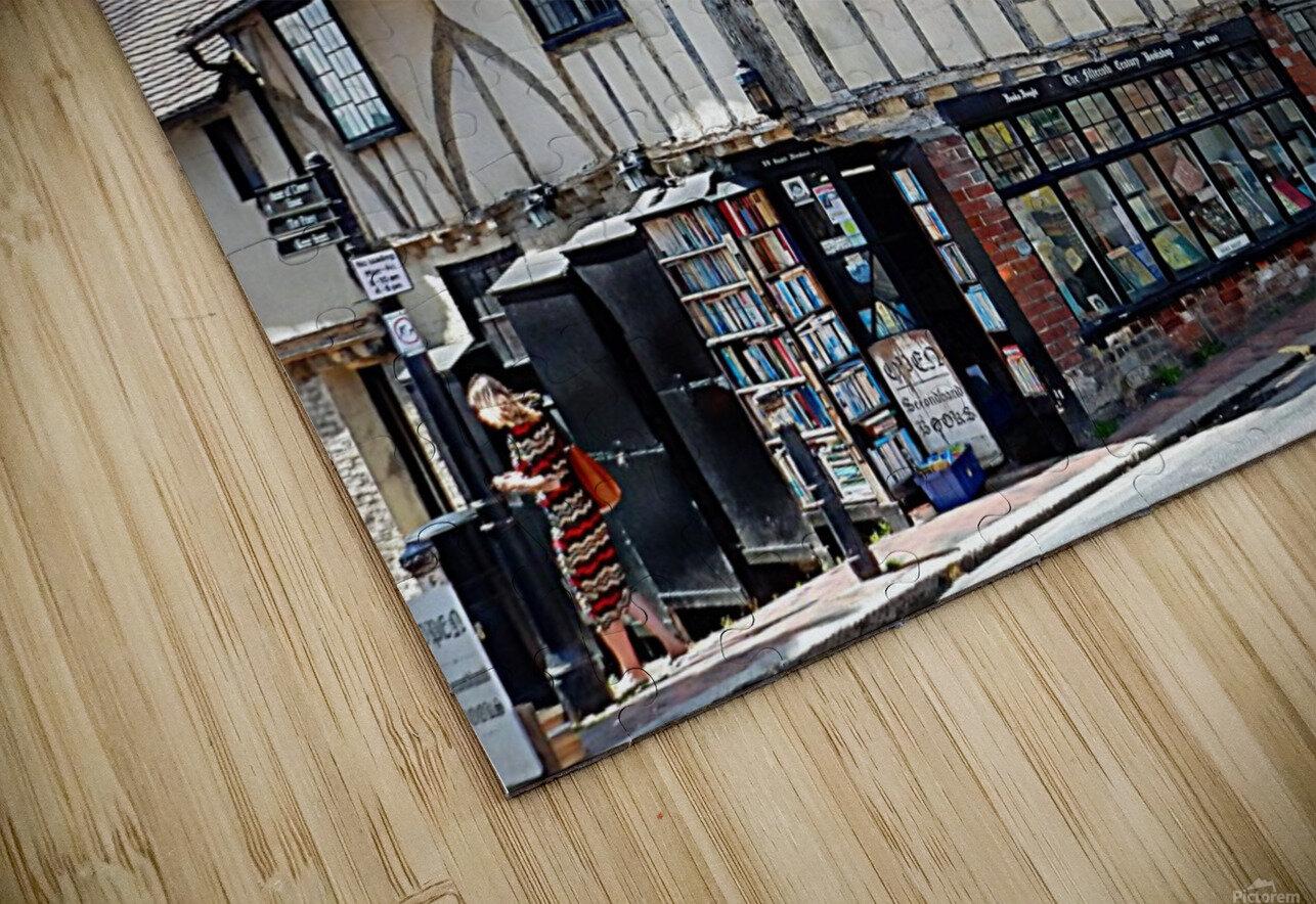 Ye Olde Bookshop Lewes front view HD Sublimation Metal print