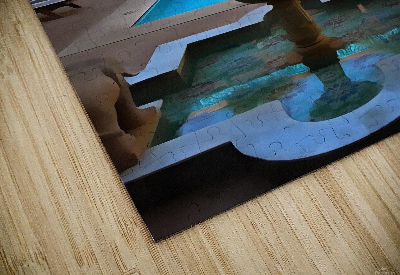 Riad Pool View Marrakesh HD Sublimation Metal print