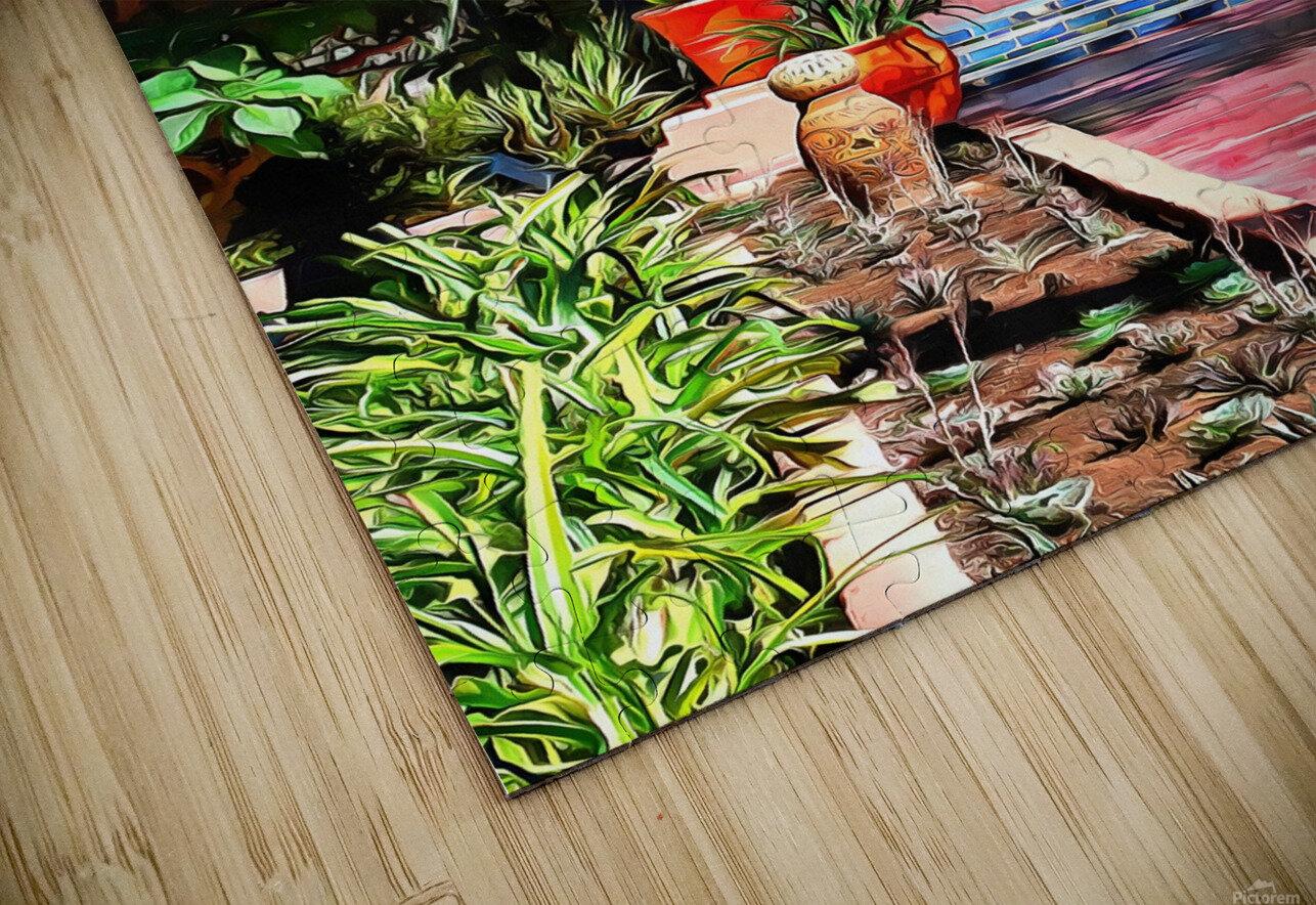 Approach To Cubist Villa Jardin Majorelle HD Sublimation Metal print