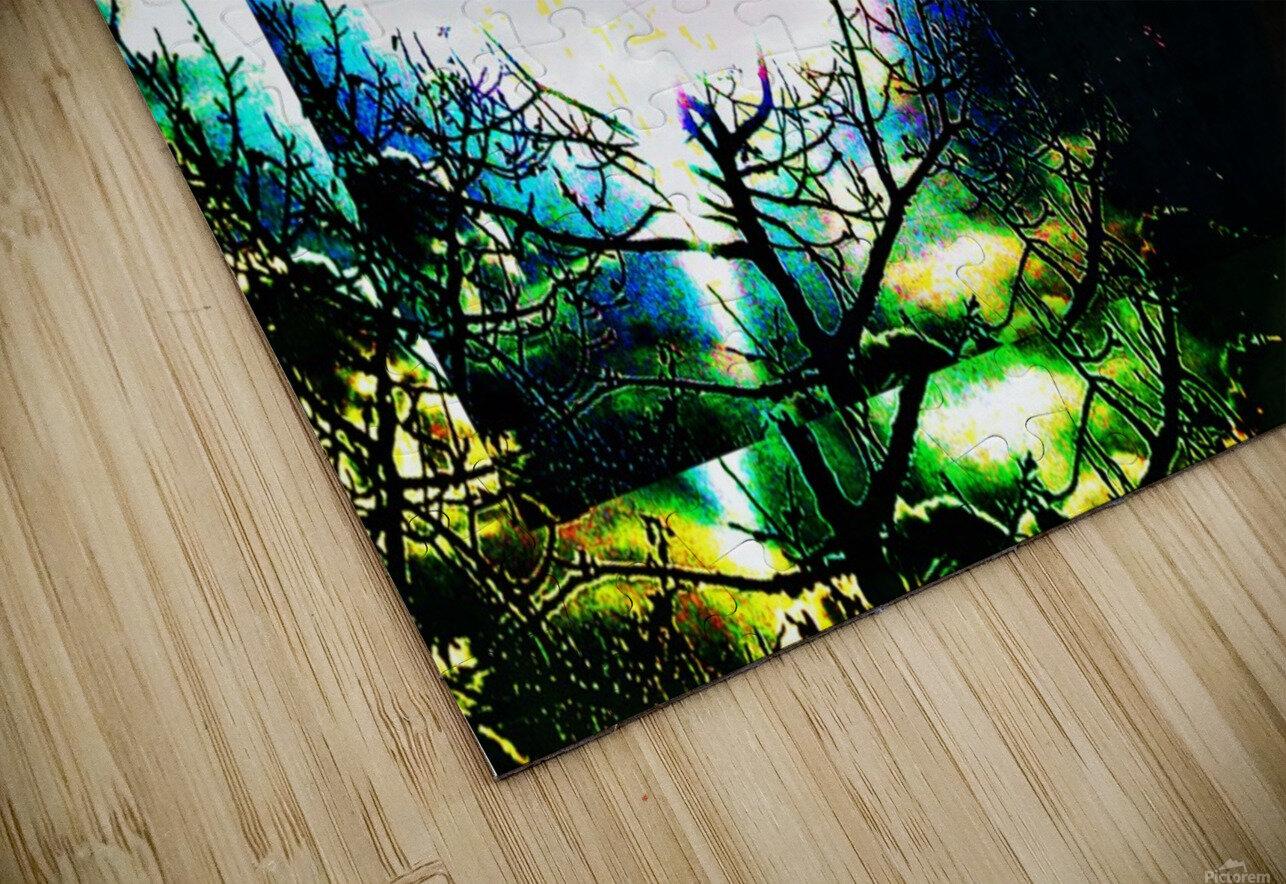 Dark Sun HD Sublimation Metal print