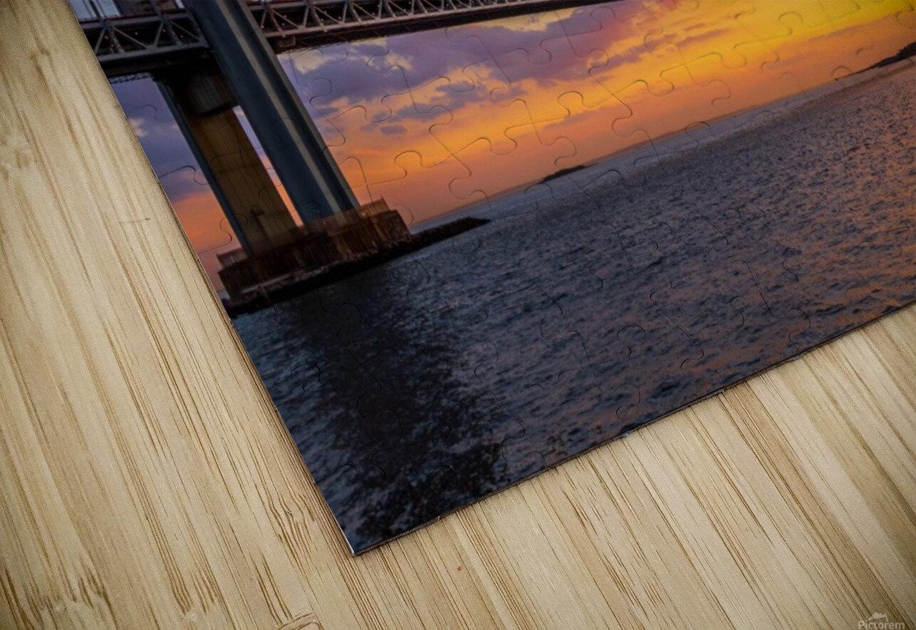 Verrazano bridge at sunset HD Sublimation Metal print