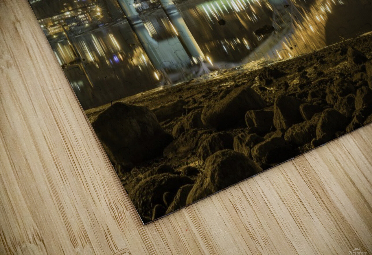 Cold refection under the B.O.B Nelson BC HD Sublimation Metal print