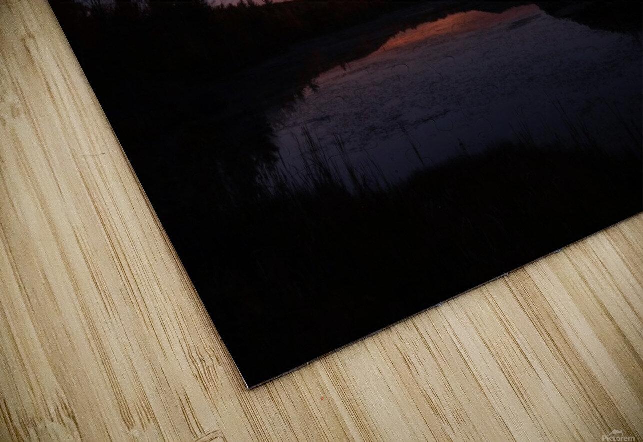 Starlit Pond HD Sublimation Metal print