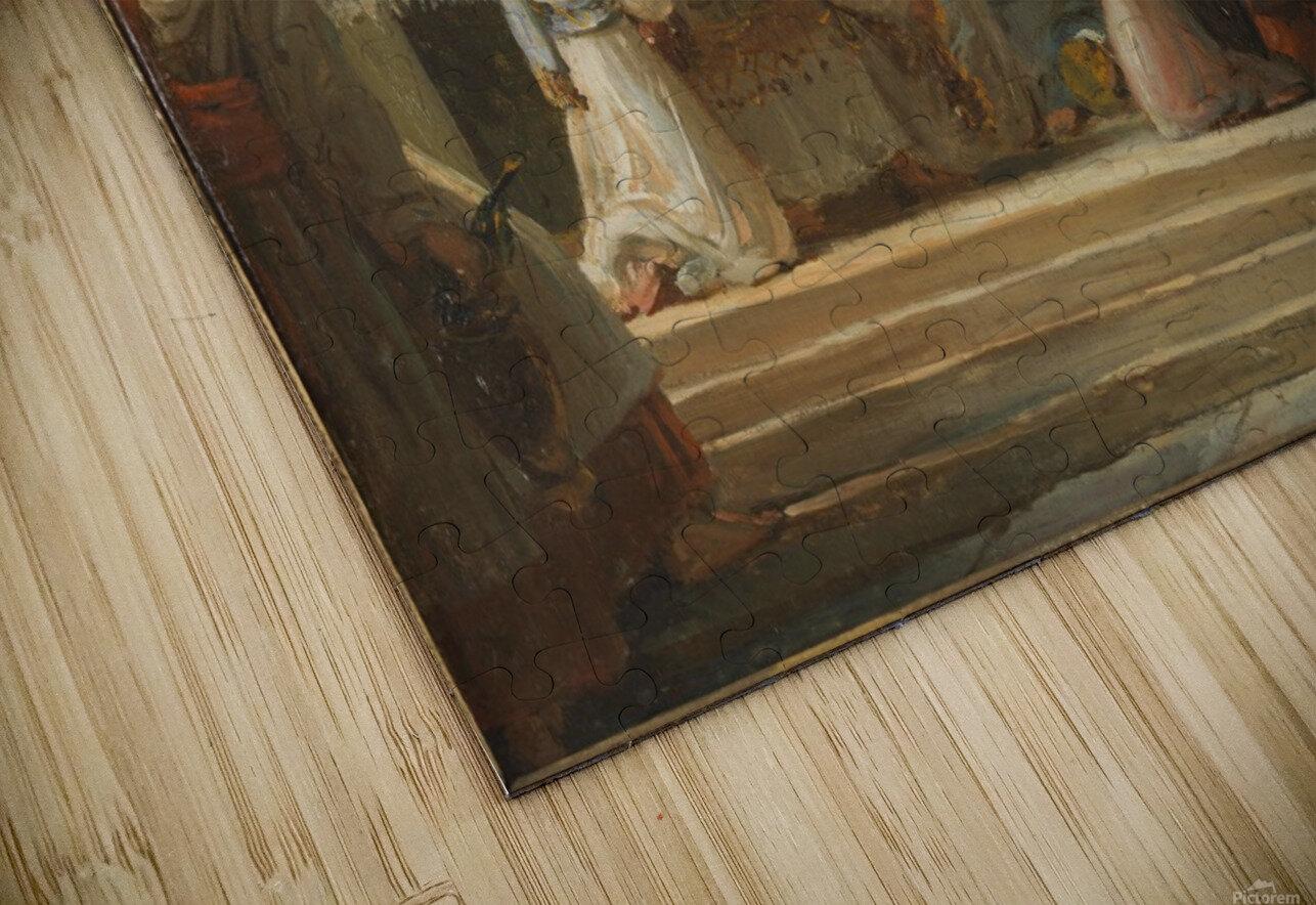 Esquisse pour l eglise Notre Dame de Lorette Consecration de la Vierge HD Sublimation Metal print