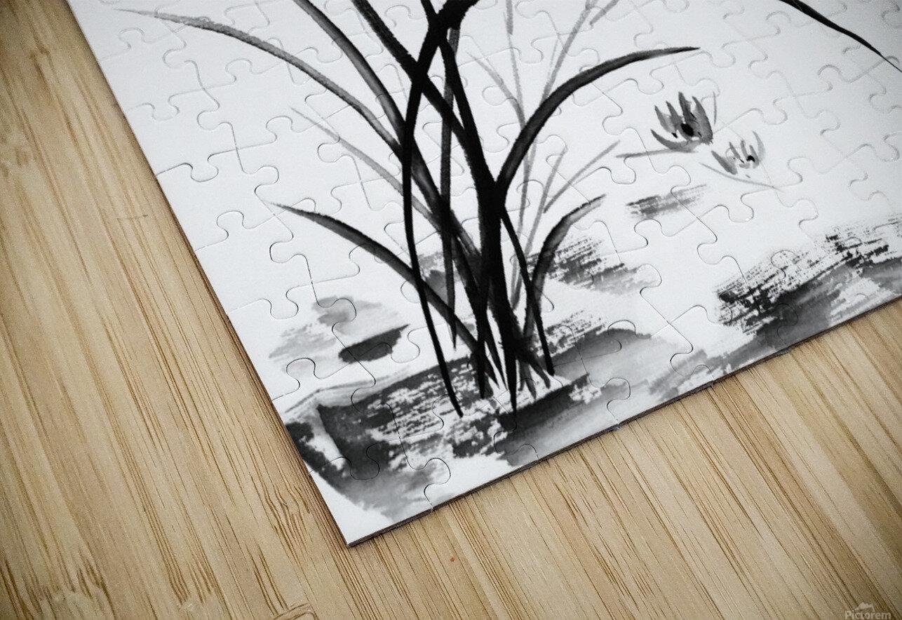Chinese Iris HD Sublimation Metal print