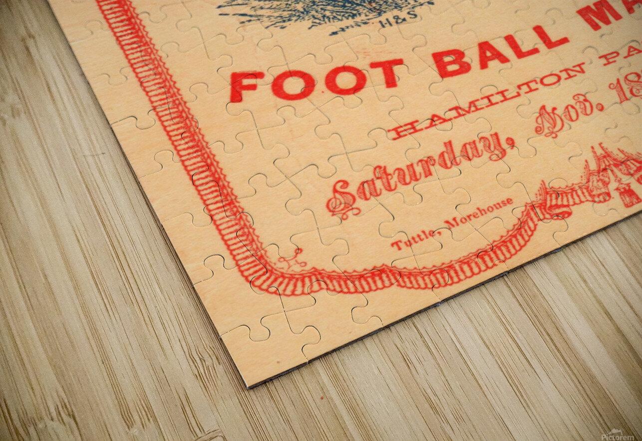1876 Harvard vs. Yale Football Program Art HD Sublimation Metal print