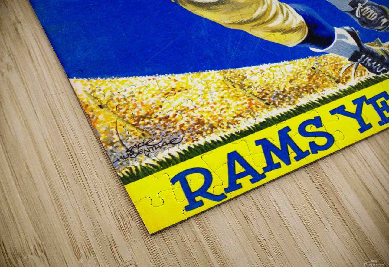 1958 LA Rams Football Yearbook Cover Art HD Sublimation Metal print