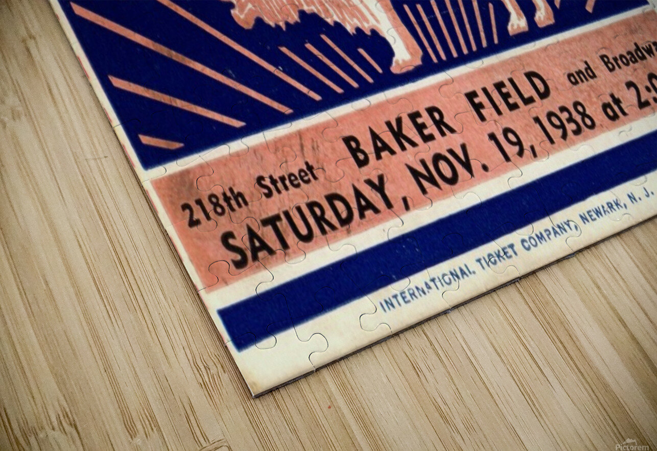 1938_College_Football_Syracuse vs. Columbia_Baker Field_New York City_Row One Brand HD Sublimation Metal print