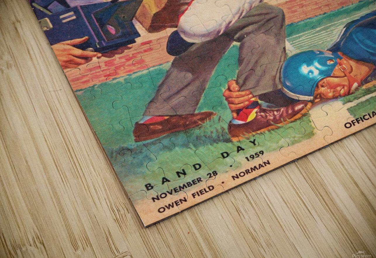 1959_College_Football_Oklahoma State vs. Oklahoma_Owen Field_Norman_Row One Brand HD Sublimation Metal print
