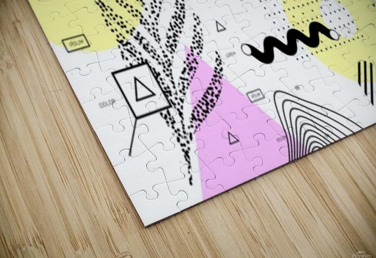 graphic design geometric background HD Sublimation Metal print