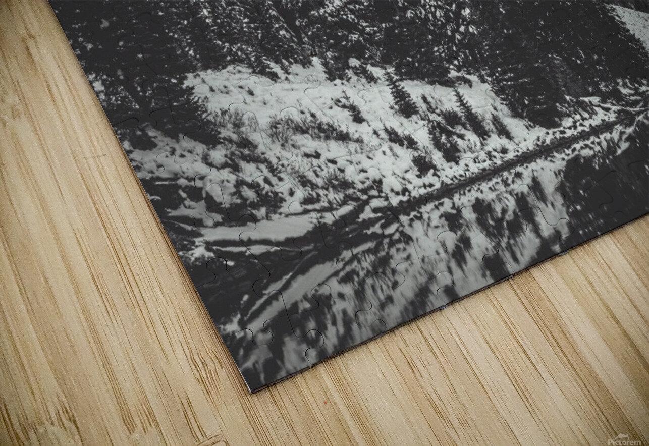 Maroon Bells B&W  HD Sublimation Metal print