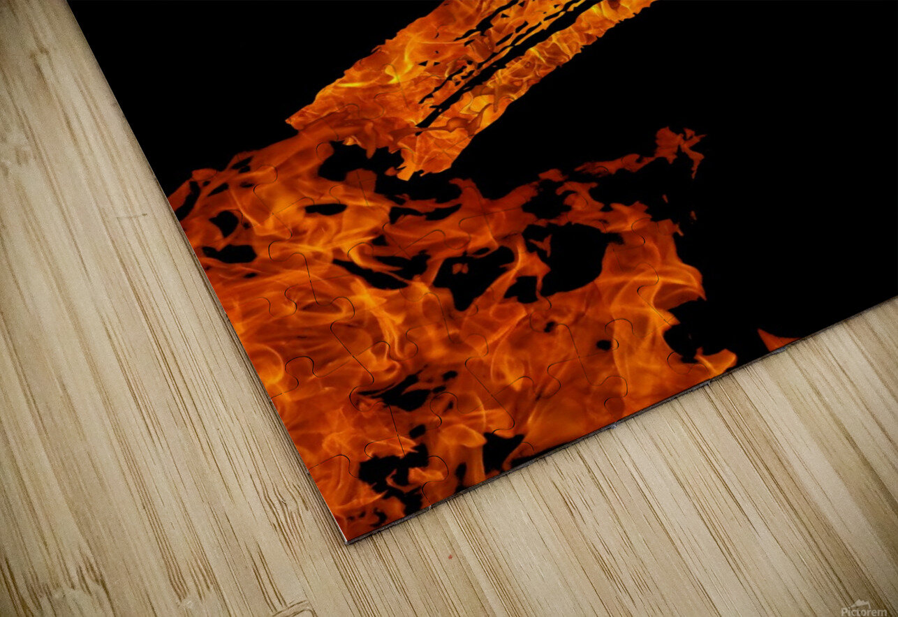Burning on Fire Letter S HD Sublimation Metal print